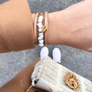 Bracelet cuir et pierres semi précieuses Anne'L Bijoux